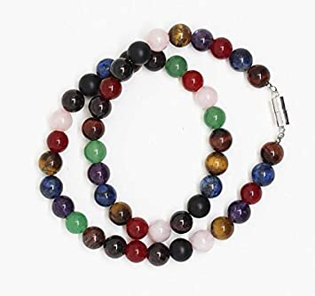 Amazon Com Natural Stone Bead Necklace Mix Semi Precious Stone