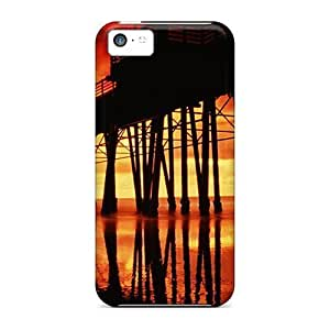 XiFu*MeiAwesome Cases Covers/iphone 4/4s Defender Cases Covers(fiery Sky Over Pier In San Diego)XiFu*Mei