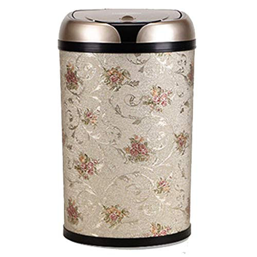 European Creative Smart Trash can - Fast Intelligent Infrared Sensor System, Fully Enclosed Inside and Outside Double Barrel Settings, Beautiful and Sophisticated Wallpaper Modeling Style。