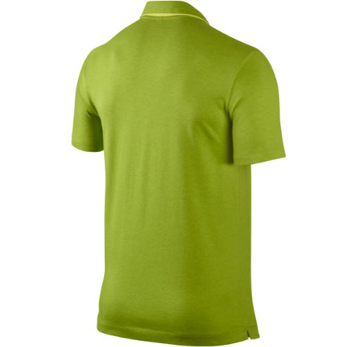 Nike Mens Sport Graphic Polo-Large-Dk Cyber Heather/Venom Green