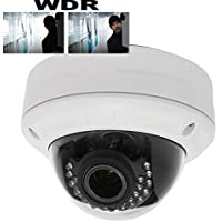 HDView 4MP Megapixel HD IP Network Camera PoE WDR Wide Dynamic Range 3.6mm Lens 3-Axis Angle IR Infrared Dome ONVIF