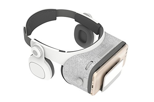 3D Light-Weight Virtual Reality Headset with Builted-in Stereo Headphone - Upgraded VR Glasses with 120 Degree FOV - for iPhone & Android[Remote Controller Not Included]
