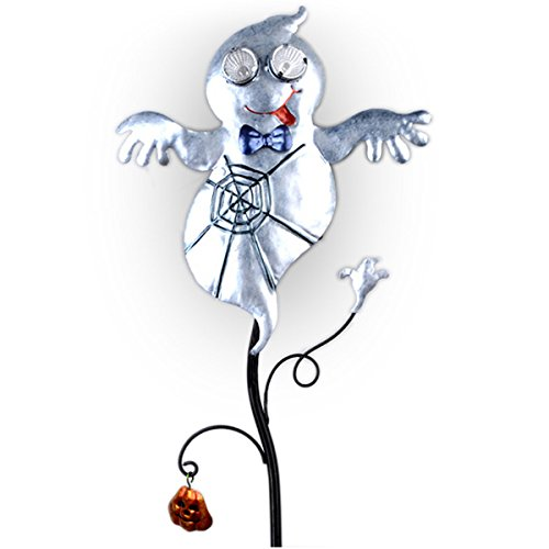Outside Halloween Ideas (Goblin Guiders - Solar Powered Halloween Decorative Lights - Friendly Ghost)