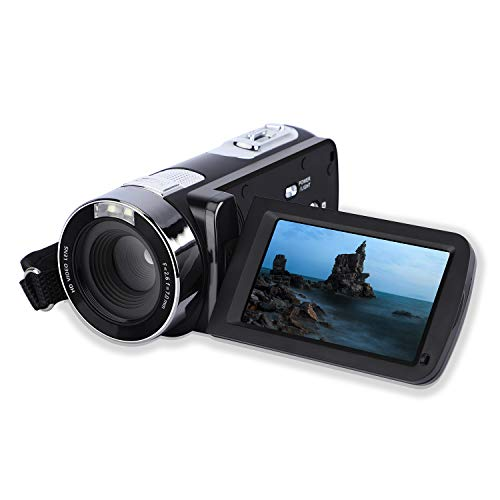 Video Camera Camcorder,Digital Camera Recorder with Beauty Face DIS FHD 1080P 24MP 18X Digital Zoom 3.0 Inch LCD 270 Degrees Rotatable Screen YouTube Vlogging Camera with Rechargeable Lithium Battery