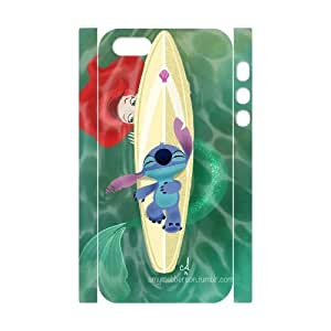 3D Stitch Series, IPhone 5,5S Case, Stitch and Mermaids Case for IPhone 5,5S [White]