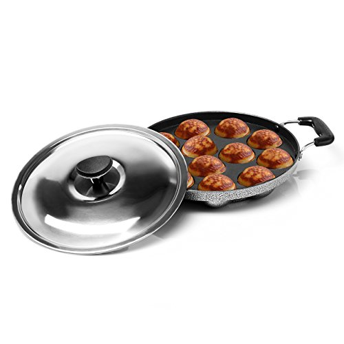 Sumeet Heavy Weight Non-Stick 12 Pcs Appam Patra For Kitchen