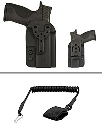 Comp-Tac Heckler & Koch H&K HK VP40 P30 P30L P30SK USP Full and Compact P2000 Q Line QB OWB Outside Waistband Ambidextrous Right Or Left Hand Kydex Modular Holster + Ultimate Arms Gear Pistol - Push Button Locking System Plain