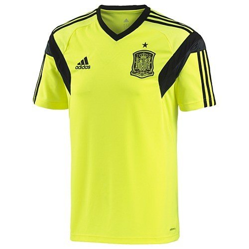 189f33ad9ca Adidas Spain Training Jersey Tee - Electric Black - Mens at Amazon Men s  Clothing store