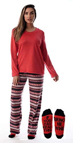 Just Love Womens Microfleece Pajama Pants Set with Socks 6734-10332-XL