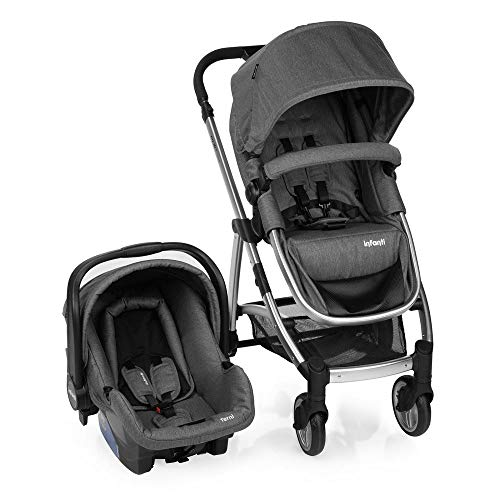 Carrinho de Bebê Travel System Infanti Epic Lite Duo Grey Classic