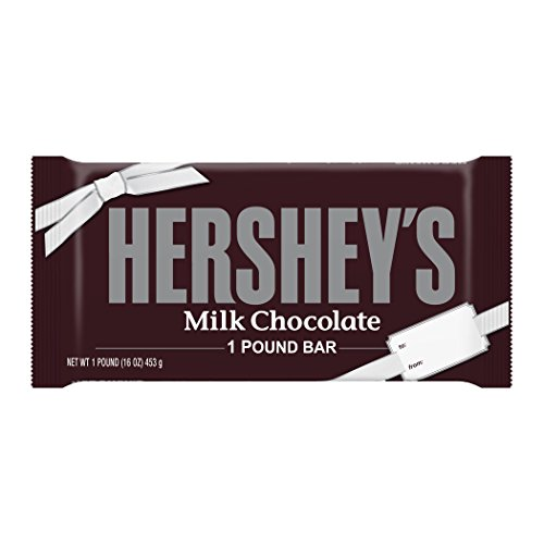 HERSHEY'S Chocolate Bar, Milk Chocolate Candy Bar, 1 Pound B
