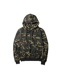 Bmeigo Men Camouflage Hoodies, Long Sleeve Hooded Sweatshirt Pullover Plus Size