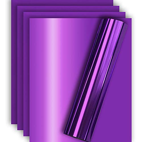 Purple Metallic Foil HTV Heat Transfer Vinyl for