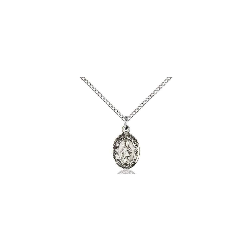 Augustine of Hippo Pendant DiamondJewelryNY Sterling Silver St