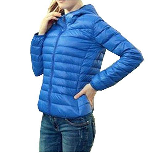 Women Coat,Haoricu Winter Warm Slim Candy Color Women Hooded Coat Jacket Zipper Overcoat Lightweight