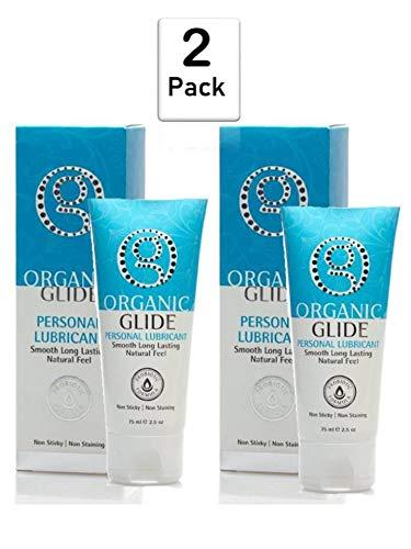 Organic Glide Natural Personal Lubricant, Probiotic Edible Formula Lube
