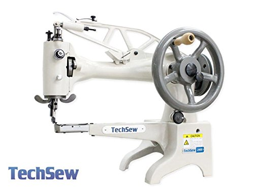 TechSew 2900 Leather Patcher Industrial Sewing Machine with Assembled Table & Servo Motor