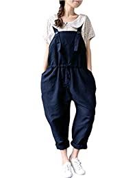 cd73eaaea90e Women Oversized Dungaree Jumpsuits Casual Loose Long Pants