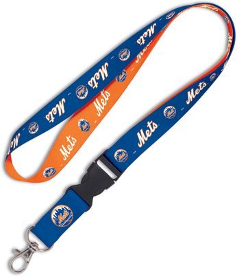 MLB New York Mets Lanyard with Detachable Buckle (York New Lanyard Mets)