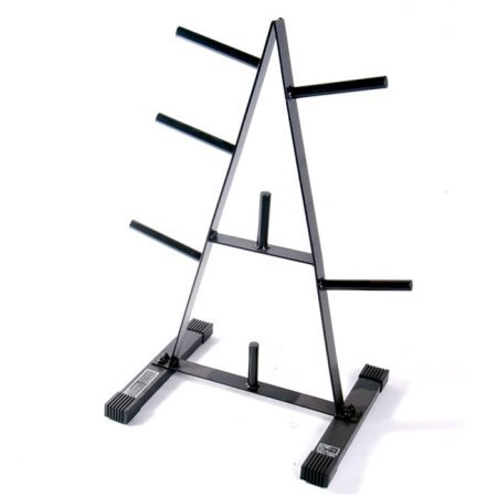 500 lbs Weight Capacity 1-Inch Standard Plate Rack in Black by