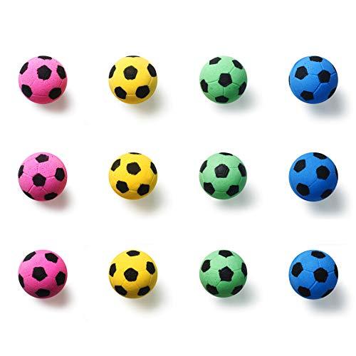 (BCQLI Pet Cat Weight Loss Ball,Spot Sponge Soccer Balls Cat Toy,12 Ball)