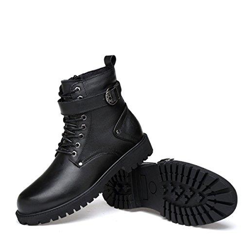 Stivali Black Di Moda Stivali Casual Uomo Martin Autunno Stivali E Inverno Stivali Pizzo Bxv7qX4