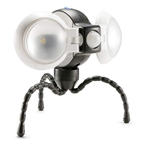 Equipt EQBPL092 Weather Resistant Portable Multi-Functional 360° Double Motion Sensor LED Light for Outdoor Lighting - Portable Detector