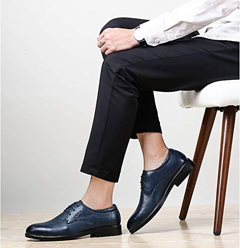 5 formale uomo HhGold da da Blu pelle 5 7 Colore Scarpe Dimensione 7 pizzo in US blu uomo in 6 8 US Scarpe uomo 5 uomo Taglia da UK 5 Blu da UK Colore X0qHX
