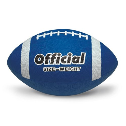 MAC-T PE02705E Official Size 5 Durable Rubber Football, Blue, Grades 11+