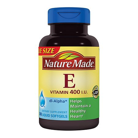 - Nature Made Vitamin E 400IU, 300 Softgels