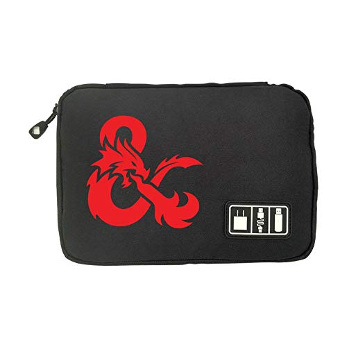 DMgui Dungeons & Dragons Electronics Cable Organizer Bag for Hard Drives, Cables, Charger Black