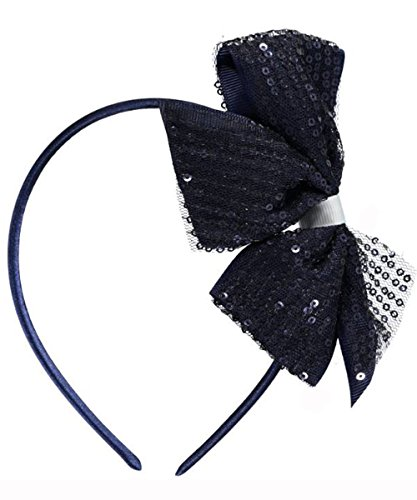 Band Uniform Accessories (French Toast Sequin Bow Headband Navy/White One Size)