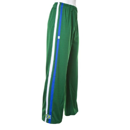 Authentic Brazilian Capoeira Martial Arts Pants - Unisex (Green)