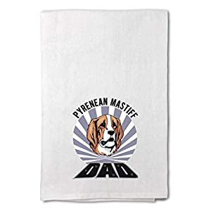 Style In Print Custom Decor Flour Kitchen Towels Dad Pyrenean Mastiff Dog Pets Dogs Cleaning Supplies Dish Towels Design Only 12