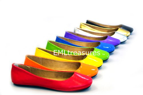 Max Footwear Women May Ballet Flats (6, Argento)