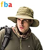 Men's Sun Hat Summer Outdoor Sunscreen Fishing Cap Military Combat Hunting Hats Wide-Brimmed Quick Dry Folding Beach Mountaineering caps