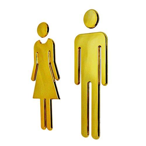 Generic Wc Toilet Restroom Washroom Door Signs Signboard Poster Man & Woman Set -