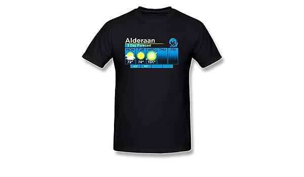 e76a92b55 Amazon.com: Alderaan 5 Day Forecast Street Funny Mens T-shirt: Clothing