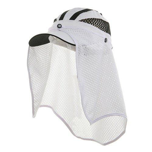 MG Talson UV Flap Cap - White OSFM