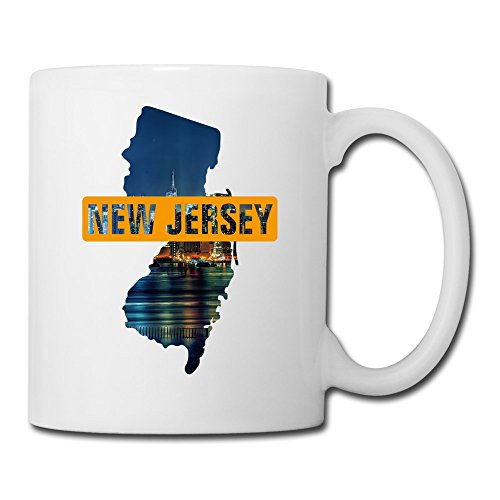 14oz Stylish Mug - New Jersey Map The Garden State Ceramic Mug