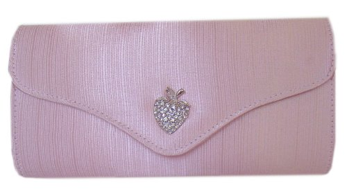 DIVA-MODE, Poschette giorno donna Rosa rosa 24x12x6cm