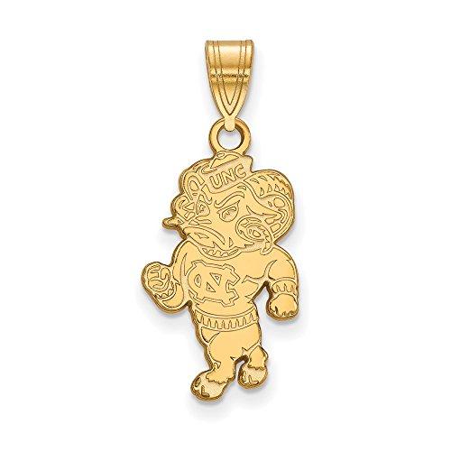 North Carolina Large (3/4 Inch) Pendant (10k Yellow Gold) by LogoArt