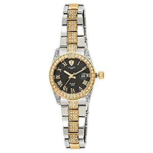 Black Royale Rex Women's Black Dial Stainless Steel Band Watch - BR2015LTTB