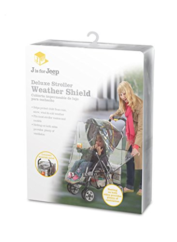 J is for Jeep Deluxe Stroller Weather Shield, Baby Rain Cover, Universal Size, Waterproof, Water Resistant, Windproof, See Thru, Ventilation, Protection, Shade, Umbrella, Pram, Vinyl, Clear, Plastic by Jeep (Image #4)