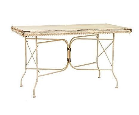 Amaranda casa tavolo rettangolare in ferro battuto cm. 140x70x81