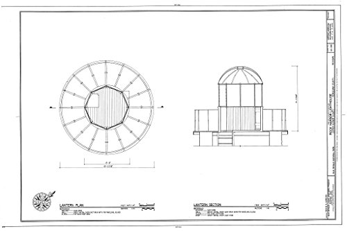 - Blueprint Diagram HABS MICH,42-COPHAR.V,2- (Sheet 7 of 7) - Rock Harbor Lighthouse, Copper Harbor, Keweenaw County, MI 12in x 08in
