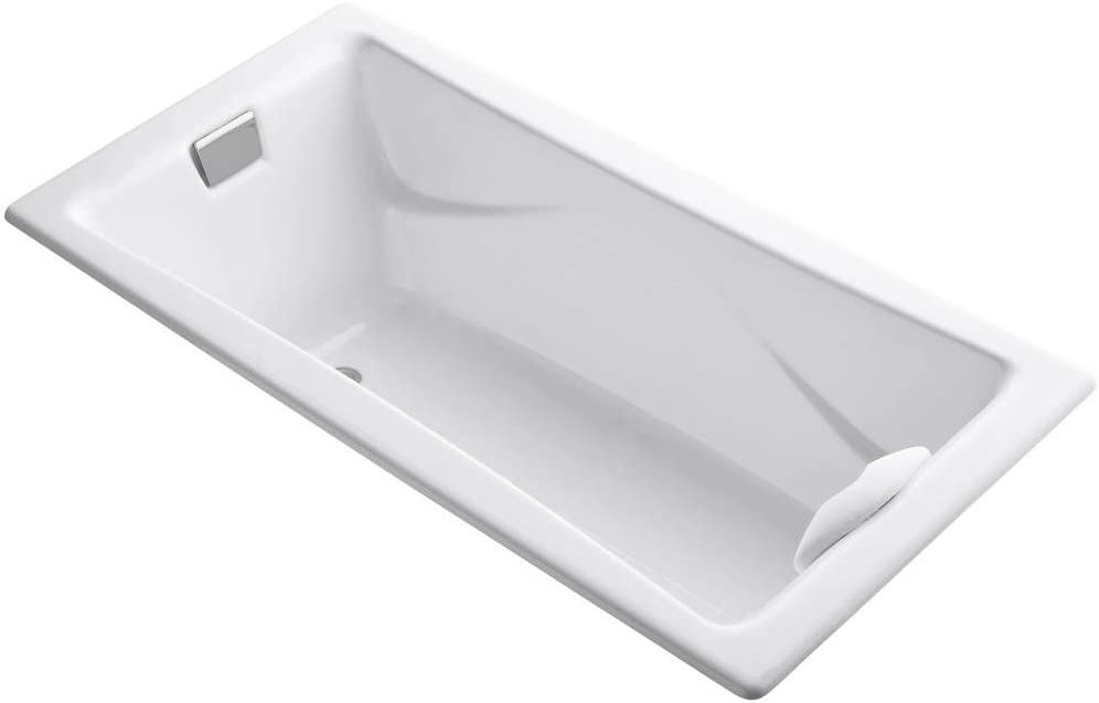 KOHLER 863-0 K-863-0 Tea-for-Two 6-Foot Bath, White, 60 Or More Gallons