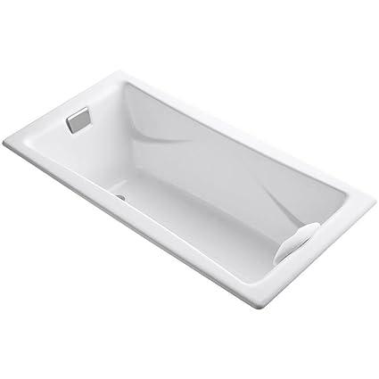 KOHLER K-863-0 Tea-for-Two 6-Foot Bath, White - Freestanding ...