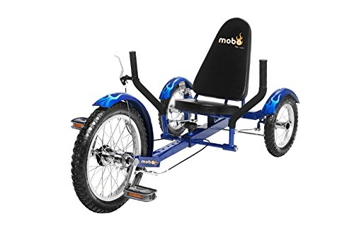 Mobo Cruiser Triton Ultimate Three Wheeled Cruiser Tricycle, Blue, (Recumbent Trike)