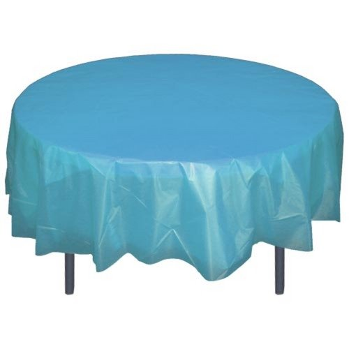Sky Blue Round plastic table cover, Health Care Stuffs